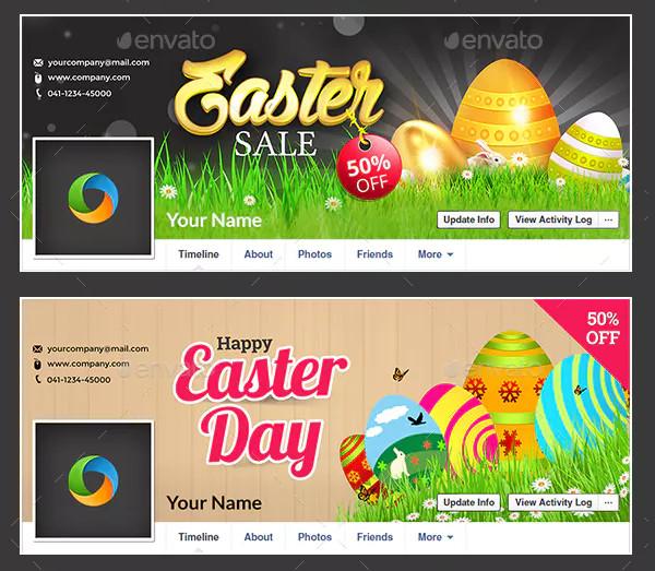 Custom Easter Facebook Cover Design