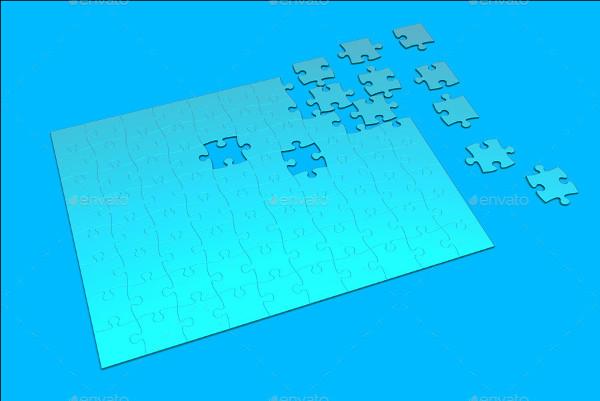 Custom Puzzle Mockup Design