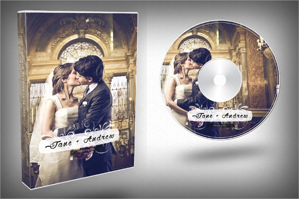 Custom Wedding DVD Cover Template