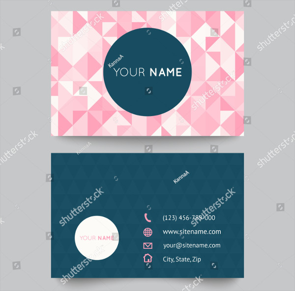Cute Polygonal Business Card Template