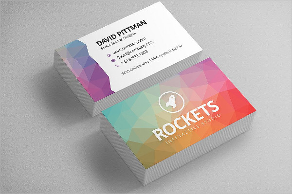 Double-Sided Polygon Business Cards