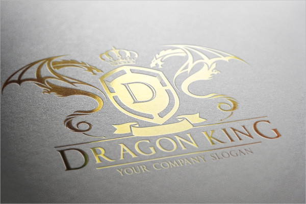 Dragon King Logo Template