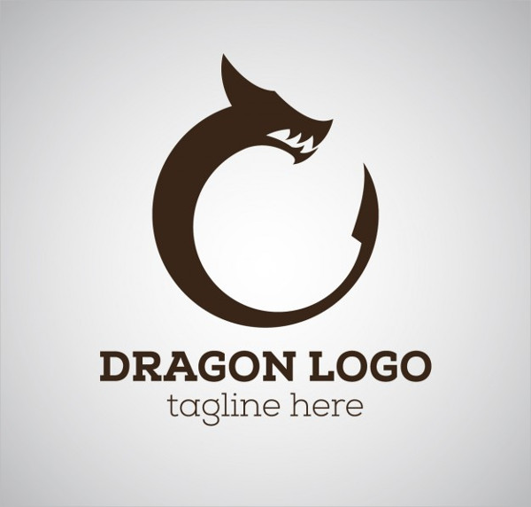 Dragon Logo with Tagline Free Download