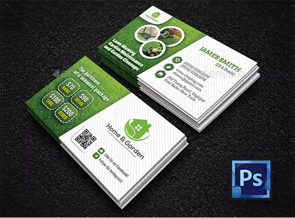 Editable Landscape Business Card Templates