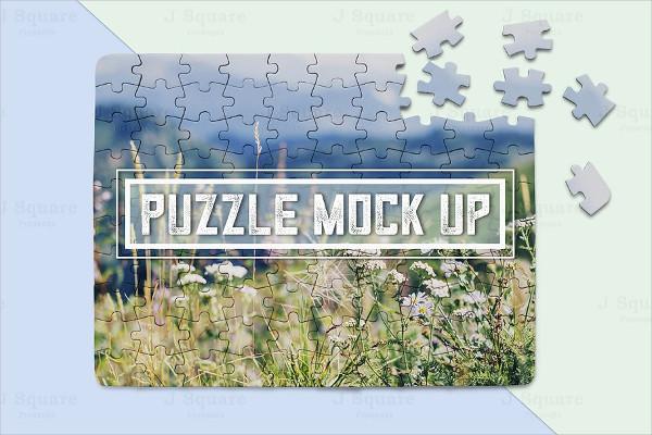 Editable Puzzle Mockup