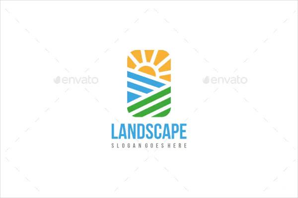 Farm Landscape Logo Template