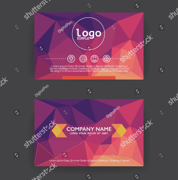 Flat Design Polygon Business Card Template