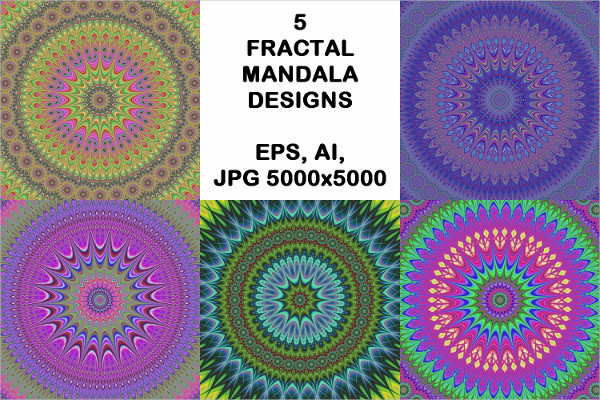 Fractal Mandala Design Backgrounds