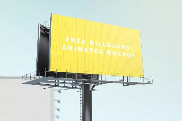 Free Billboard Animated Mock-Up Download