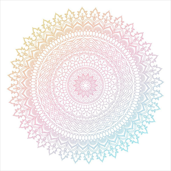 Free Download Colorful Mandala Design
