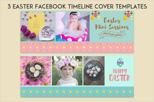 Free Easter PSD Facebook Timeline Template