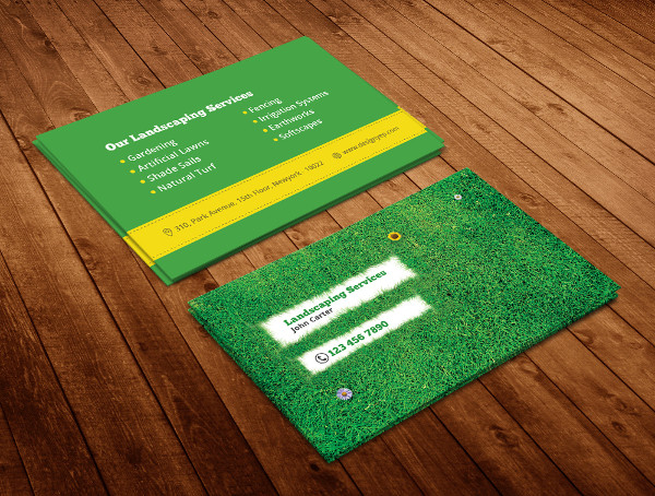 Free PSD Landscaping Business Card Template