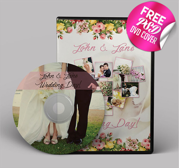 Free PSD Wedding CD Cover Design Download