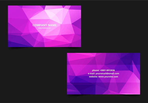 Free Polygonal Business Card Template