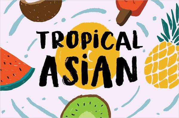Free Tropical Asian Demo Font