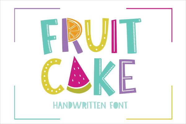 Fruit Cake Handwritten Font