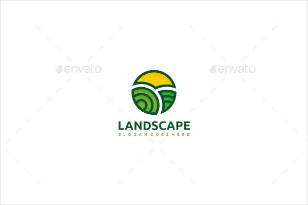 Fully Editable Landscape Logo Template