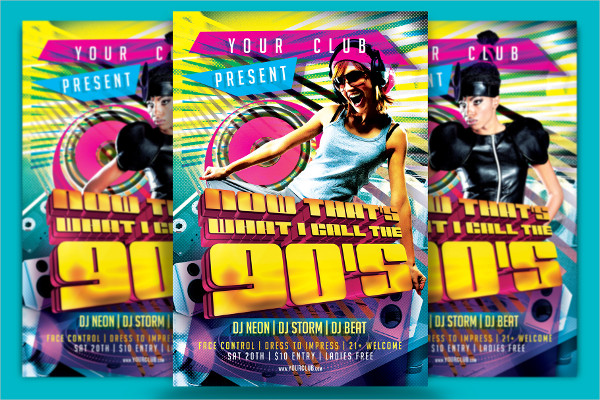 Funky 90's Flyer Designs