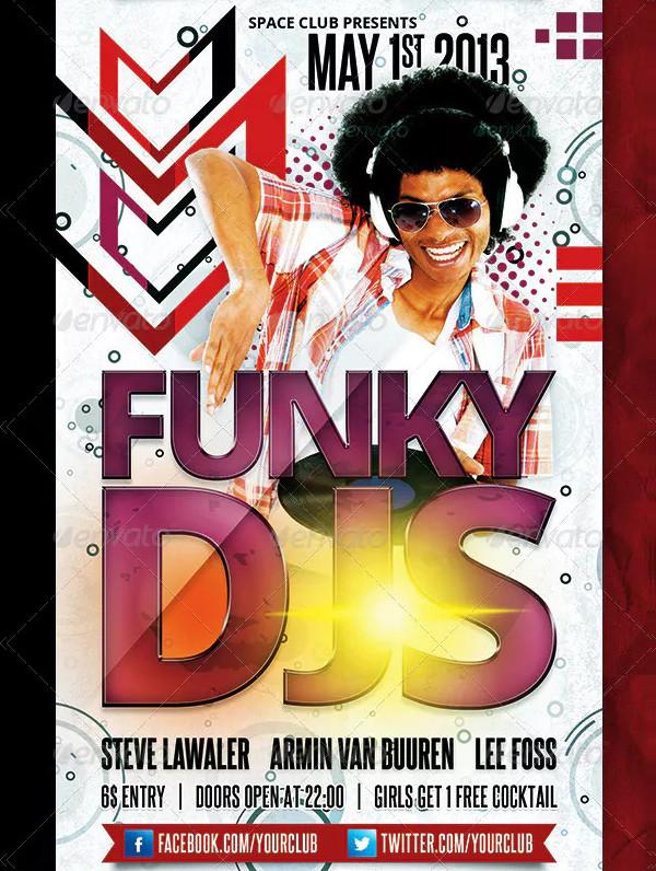 Funky DJs Flyer Template