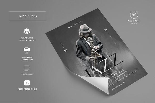 Funky Jazz Flyer Design