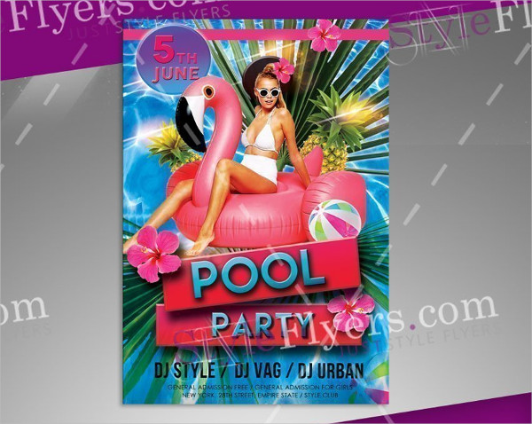 Funky Pool Party Flyer Designs Free Download