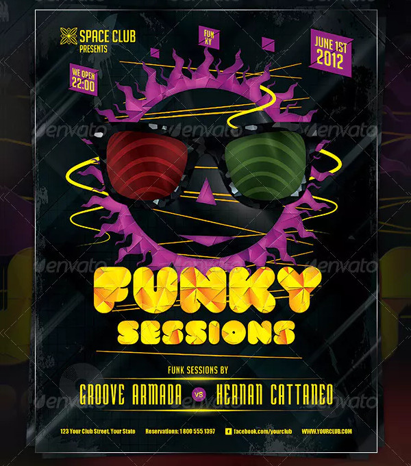 Funky Sessions Poster & Flyer Design
