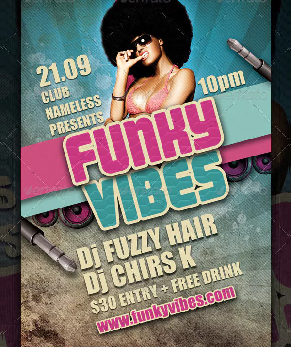 Funky Vibes Party Club Flyer Template