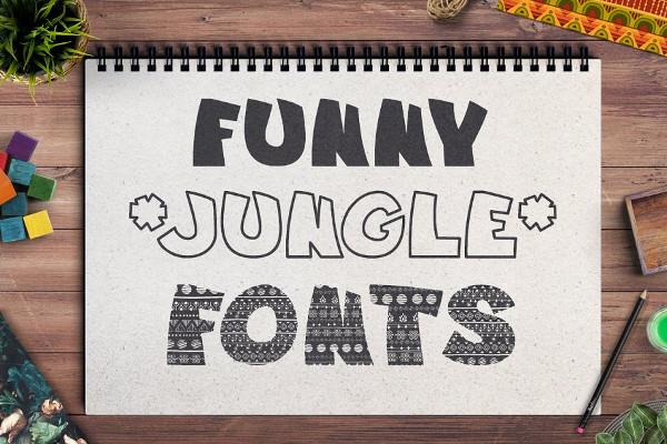 Funny Jungle Fonts