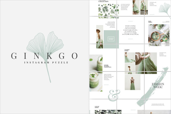 Ginkgo Instagram Puzzle Template