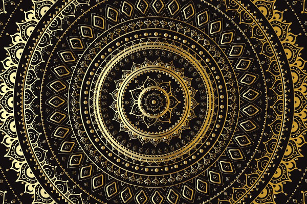 Golden Mandala Designs Set