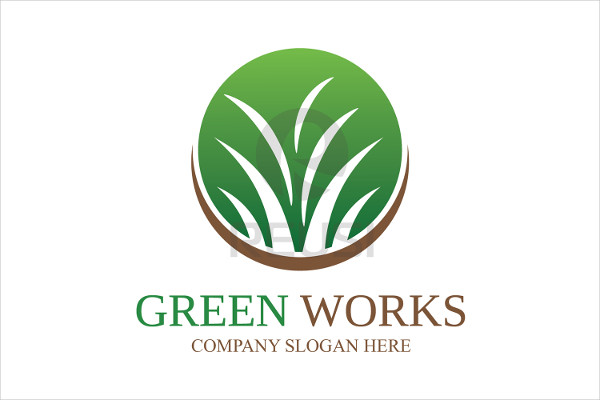 Greenworks Landscaping Logo Template