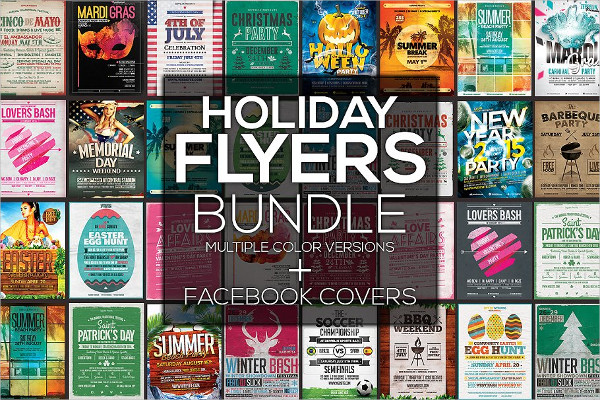 Holiday Flyers & FB Covers Bundle
