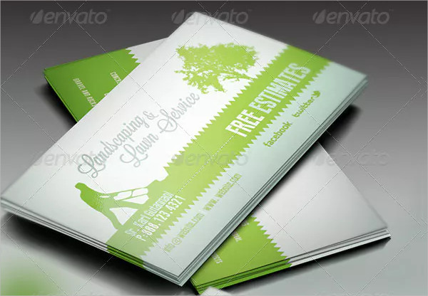 Landscaping and Lawn Business Card Template