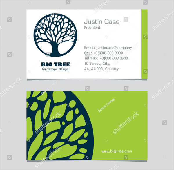 Lawn Care Service Business Card Design
