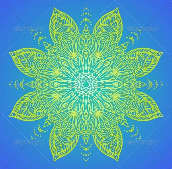 Mandala Design in Lime Green