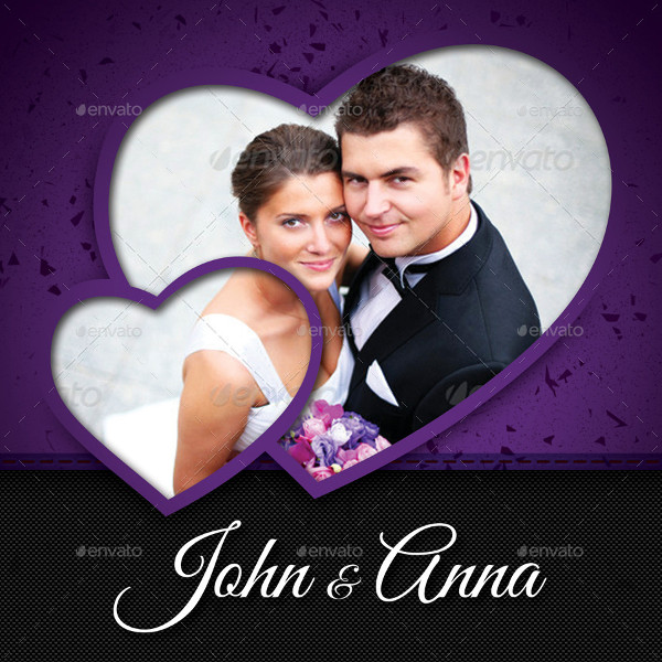 Marriage CD Cover Template