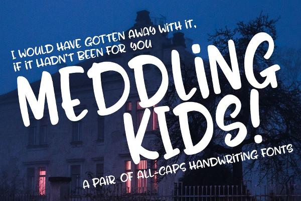 Meddling Kids Handwriting Font