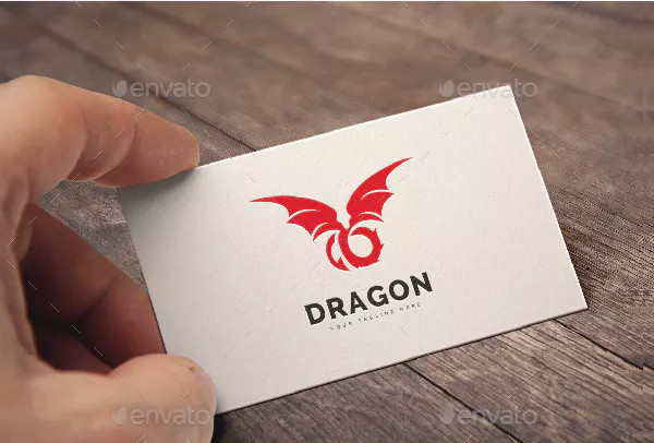Modern Dragon Logo Design