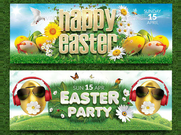 Modern Easter Facebook Covers Template