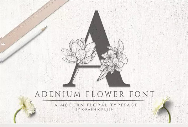 Modern Flower Font