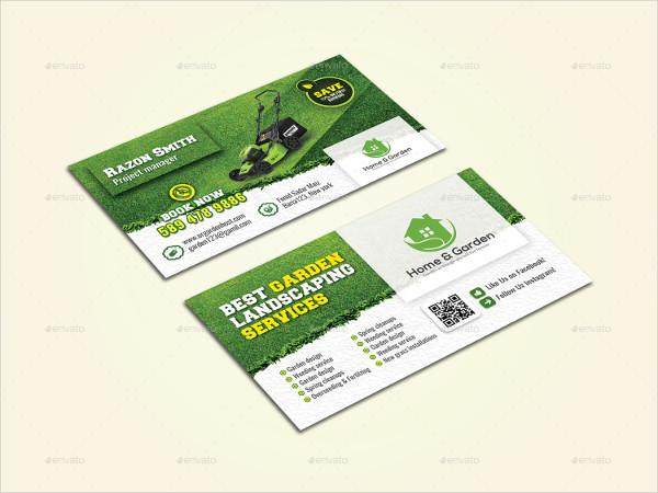 Modern Garden Landscape Business Card Template