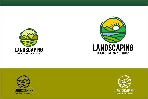 Modern Landscaping Logo Design