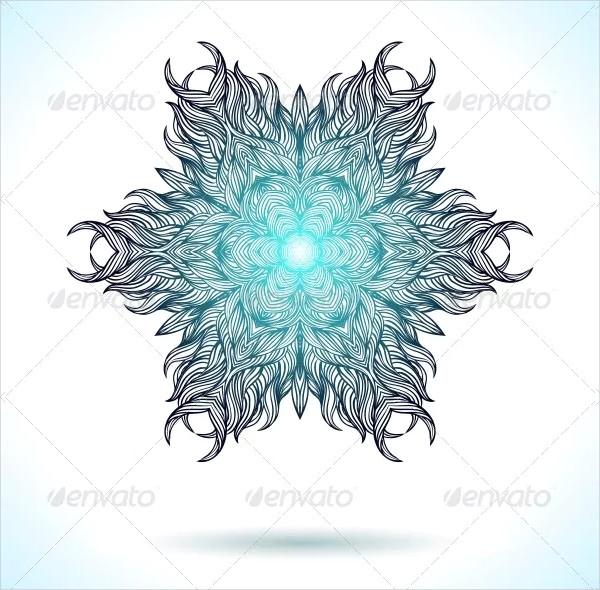 Modern Mandala or Snowflake Designs
