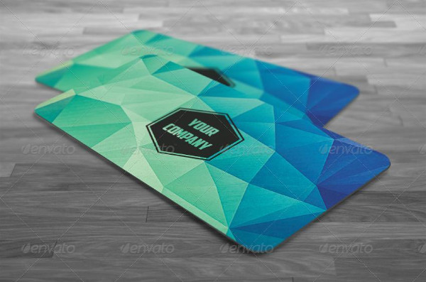 Modern Polygon Business Card Template