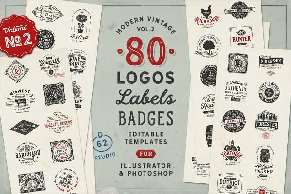 Modern Vintage Logos Templates