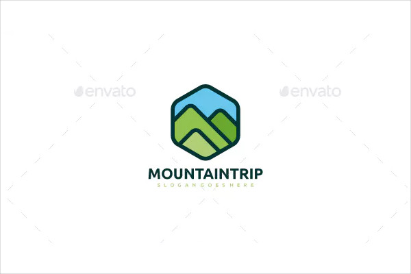 Mountain Landscape Logo Template