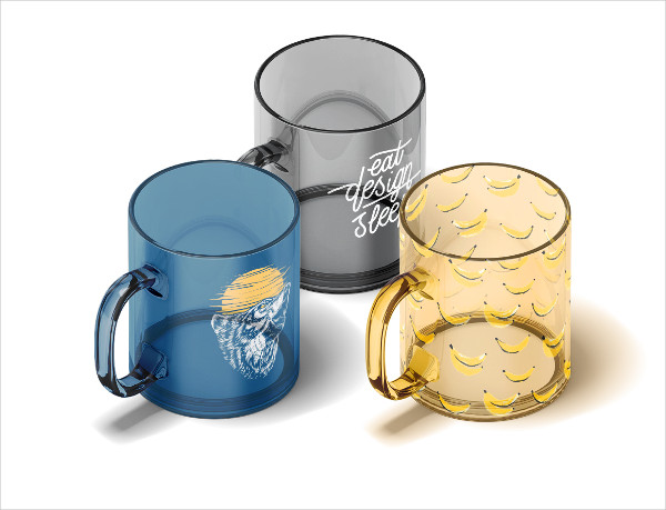 New Glass Mug Animated Mock-up