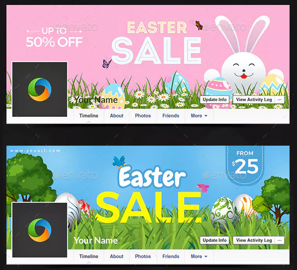 PSD Easter Day Facebook Covers