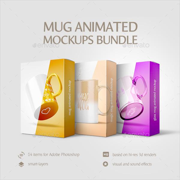 PSD Mug Animated Mockups Bundle