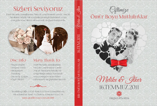 PSD Wedding DVD or CD Cover Templates